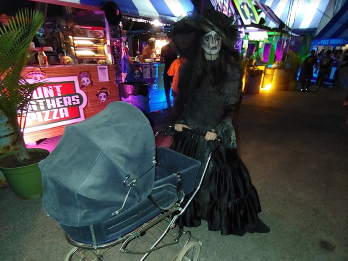 Scary Woman with Carriage