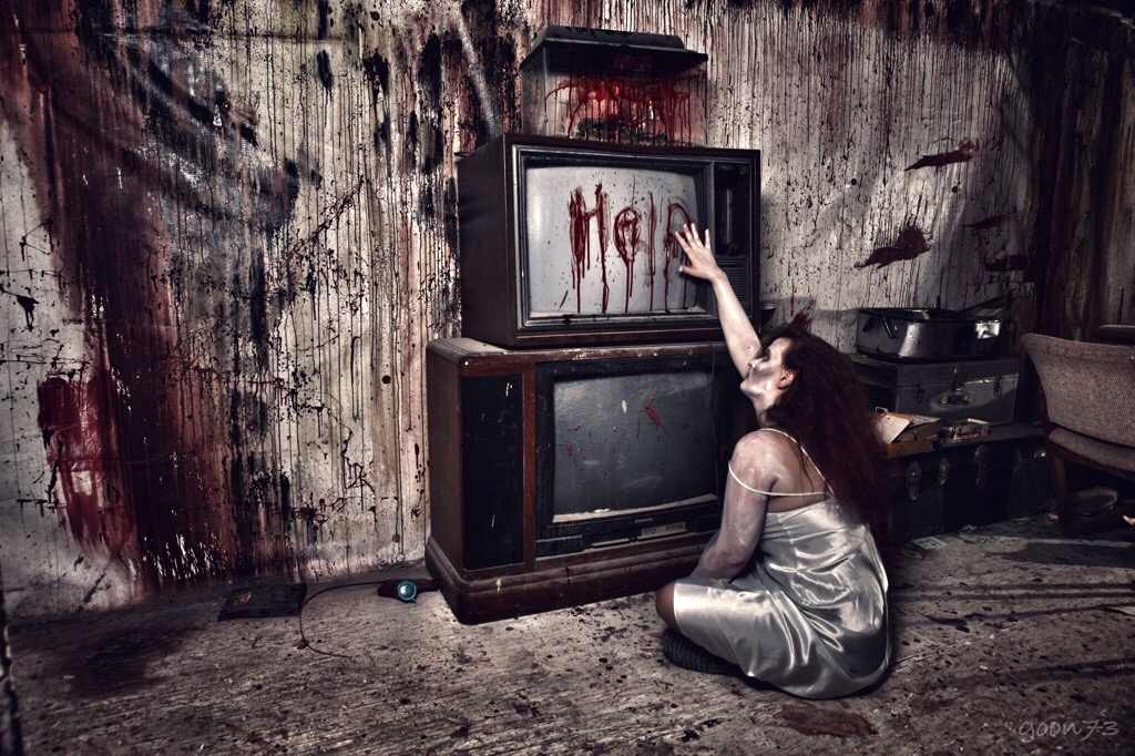 Sanitarium Help - Woman Reaching for TV